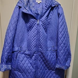 Susan graver packable jacket with removable  hood